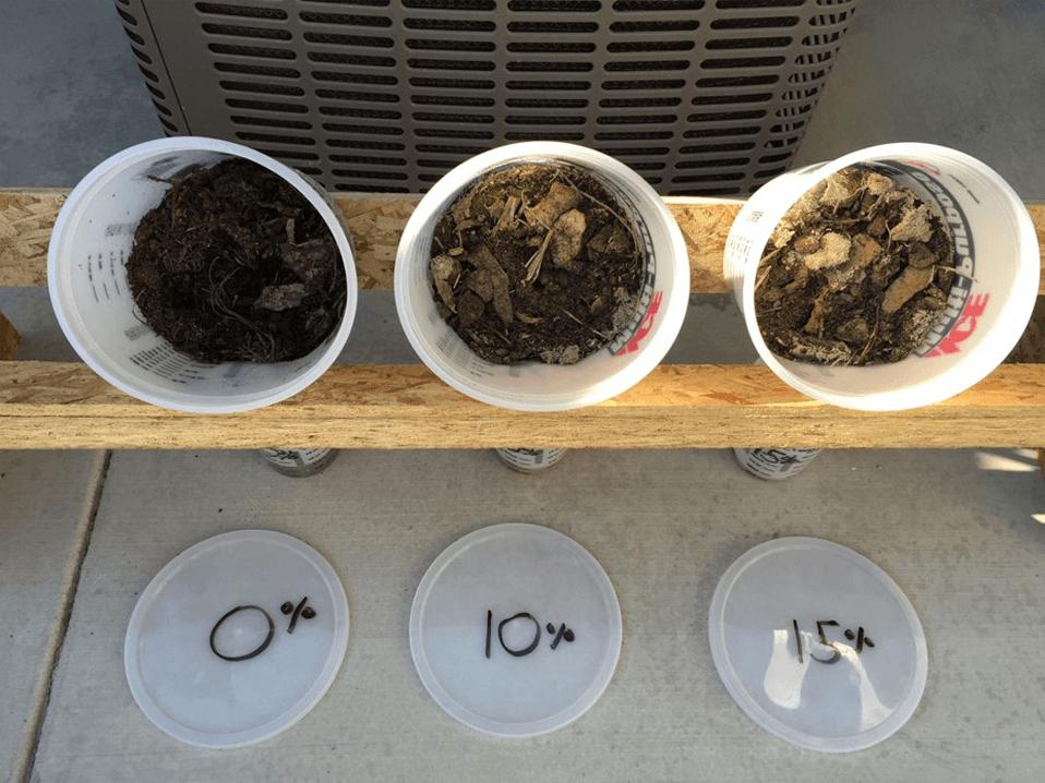 Снижение выбросов газа из компоста с использованием цеолита